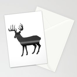 Deer print, Black & White Stationery Cards
