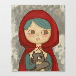 The Little Wolf - Quirky Hand Hand Drawn San Jones Illustration  Canvas Print