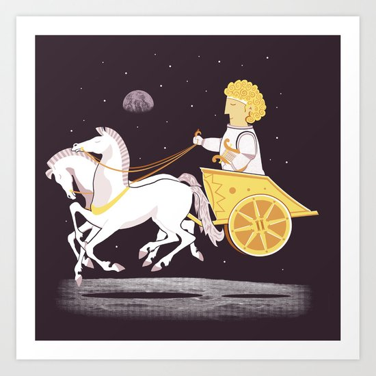 Apollo's Moon Landing Art Print