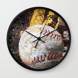 Baseball picture variation 3 Wall Clock