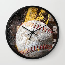 Baseball picture variation 3 Wall Clock