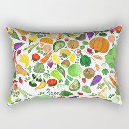 Fruit and Veg Pattern Rectangular Pillow