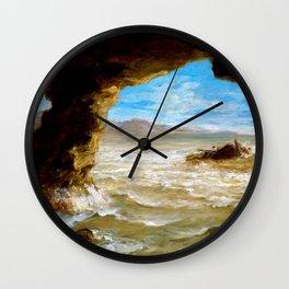 Shipwreck on the Coast - Eugene Delacroix Wall Clock