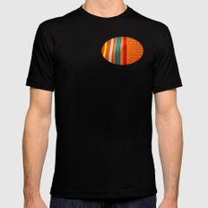 in woven color MEDIUM Mens Fitted Tee Black