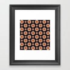 Cherry Pies on Black Framed Art Print
