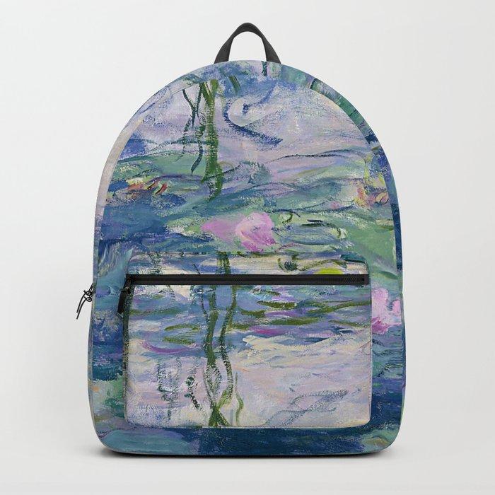 """Claude Monet """"Water Lilies(Nymphéas)"""" (9) 1916–19.jpg Rucksack"""