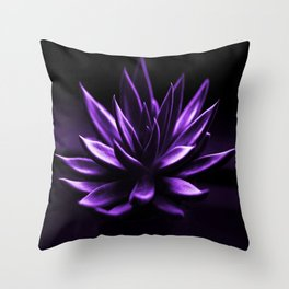 Succulent Plant In Purple Color #decor #society6 #homedecor Throw Pillow