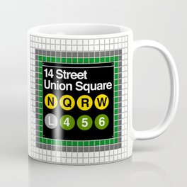 subway union square sign Coffee Mug
