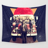 ali gulec Wall Tapestries featuring El Camion by Ali GULEC