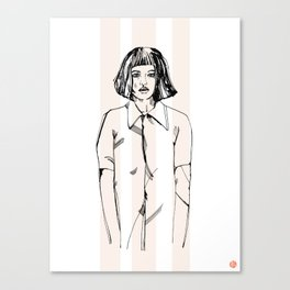 First Hello No.1 (pink) Canvas Print