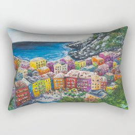 Cosy Cove from Cinque Terre, Italia Rectangular Pillow