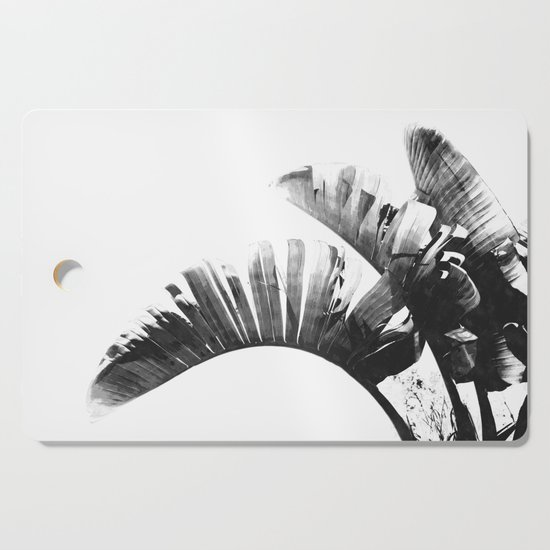 Palm leaves black and white tropical watercolor by alemi