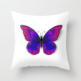 Tricolored Butterfly Throw Pillow