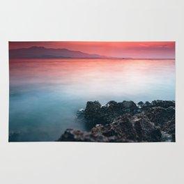 sunset at Ionian sea Rug