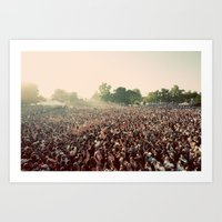 it crowd Art Prints featuring crowd by Jason Domingues