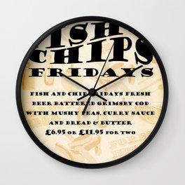 Fish&Chip Fridays Wall Clock