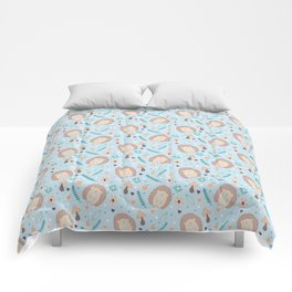 Cute hedgehogs pattern Comforters