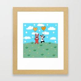 Happy Littlegrassland Framed Art Print