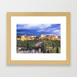 #laAlhambradeldia 180 Framed Art Print