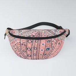 Light Pink Wildflower Sunshine III // 18th Century Colorful Pinkish Dusty Blue Gray Positive Pattern Fanny Pack