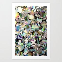 CDs crushed Art Print