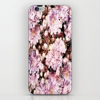 rose gold iPhone & iPod Skins featuring Rose And Gold Floral by J&C Creations