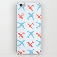 airplanes iPhone & iPod Skins featuring Airplanes by Daily Design