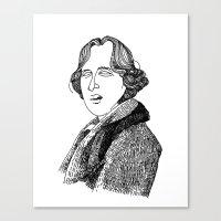 oscar wilde Canvas Prints featuring Oscar Wilde by Sparganum