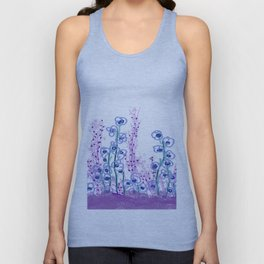 Astract Water Flowers Unisex Tank Top