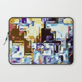 purple brown pink yellow and blue Laptop Sleeve