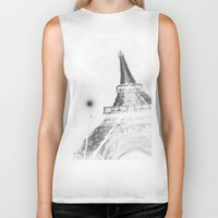 eiffel Biker Tanks featuring Eiffel by Envibe Photography