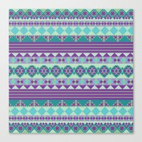 aztec Canvas Prints featuring Aztec by Arcturus