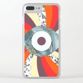 Hypno Retro Eye Clear iPhone Case