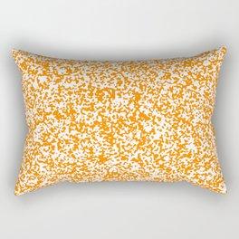 Tiny Spots - White and Orange Rectangular Pillow