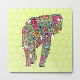 painted elephant chartreuse spot Metal Print