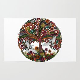 tree of life white Rug