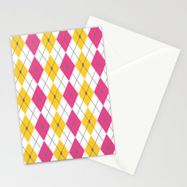 Pink & Orange Rhombus Stationery Cards