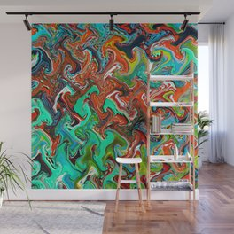 Trippy Wave Pattern Wall Mural