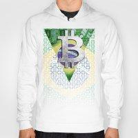 brazil Hoodies featuring bitcon Brazil by seb mcnulty