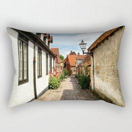 Narrow streets of Ribe Rectangular Pillow