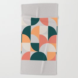 Mid Century Geometric 17 Beach Towel