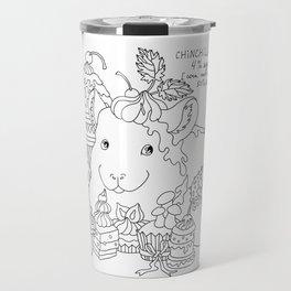 Chinchilla and cupcake Travel Mug
