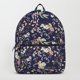 Dark Intricate Floral Pattern Backpack