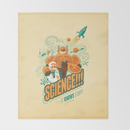 Science!!! It Knows Stuff! Throw Blanket
