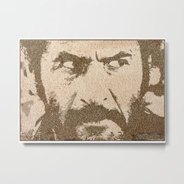 Text Portrait of Tuco Ramirez with full script of The Good The Bad and The Ugly Metal Print
