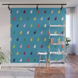Raindrops Wall Mural