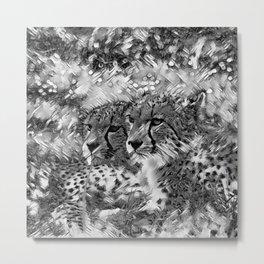 AnimalArtBW_Cheetah_20171004_by_JAMColors Metal Print