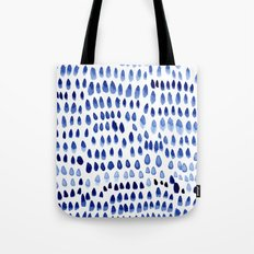 painted dots blue Tote Bag