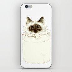 Puss in Pocket (B) iPhone & iPod Skin