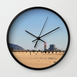 Power Station Beach Wall Clock